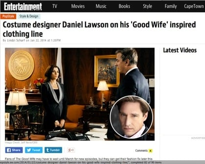 Entertainment features article on Daniel Lawson