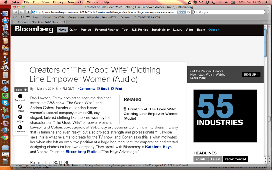 Bloomberg talks number35 empowering women on the The Good Wife