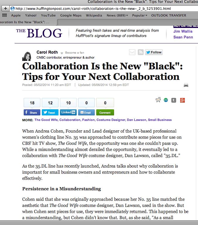 The Blog talks tips for collaboration
