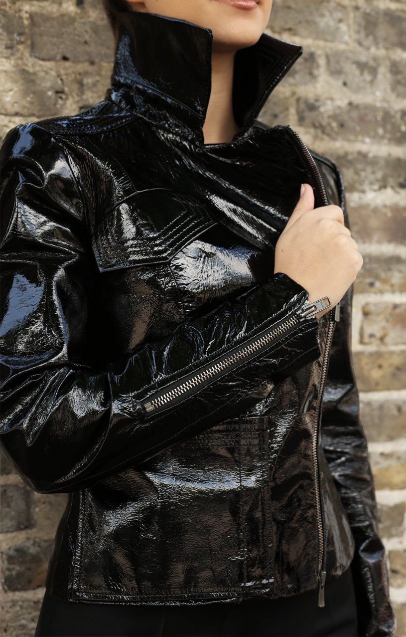 Black Biker Jacket1