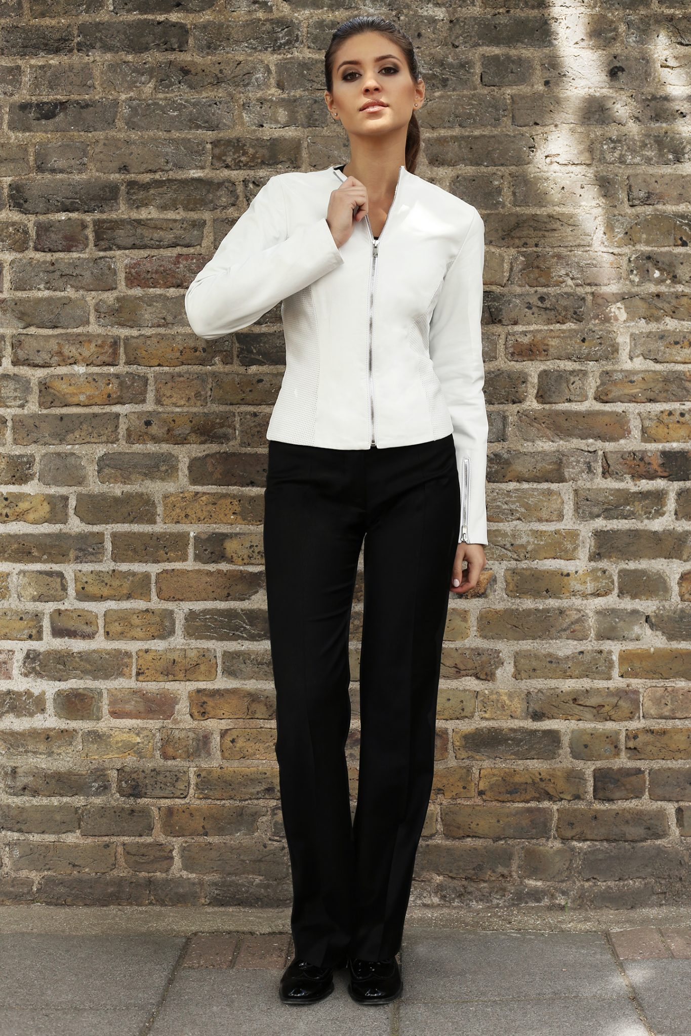 White Perforated Jacket