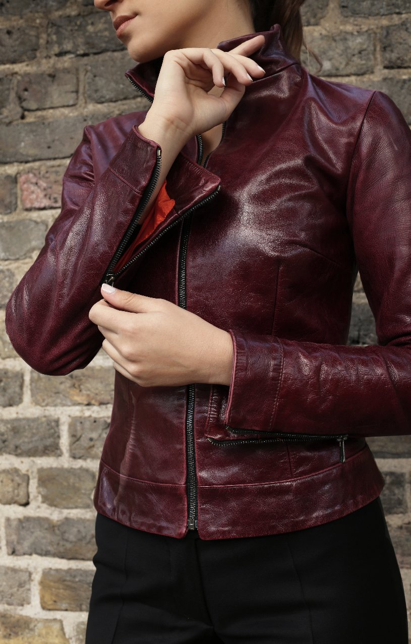 Burgundy Bomber Jacket1