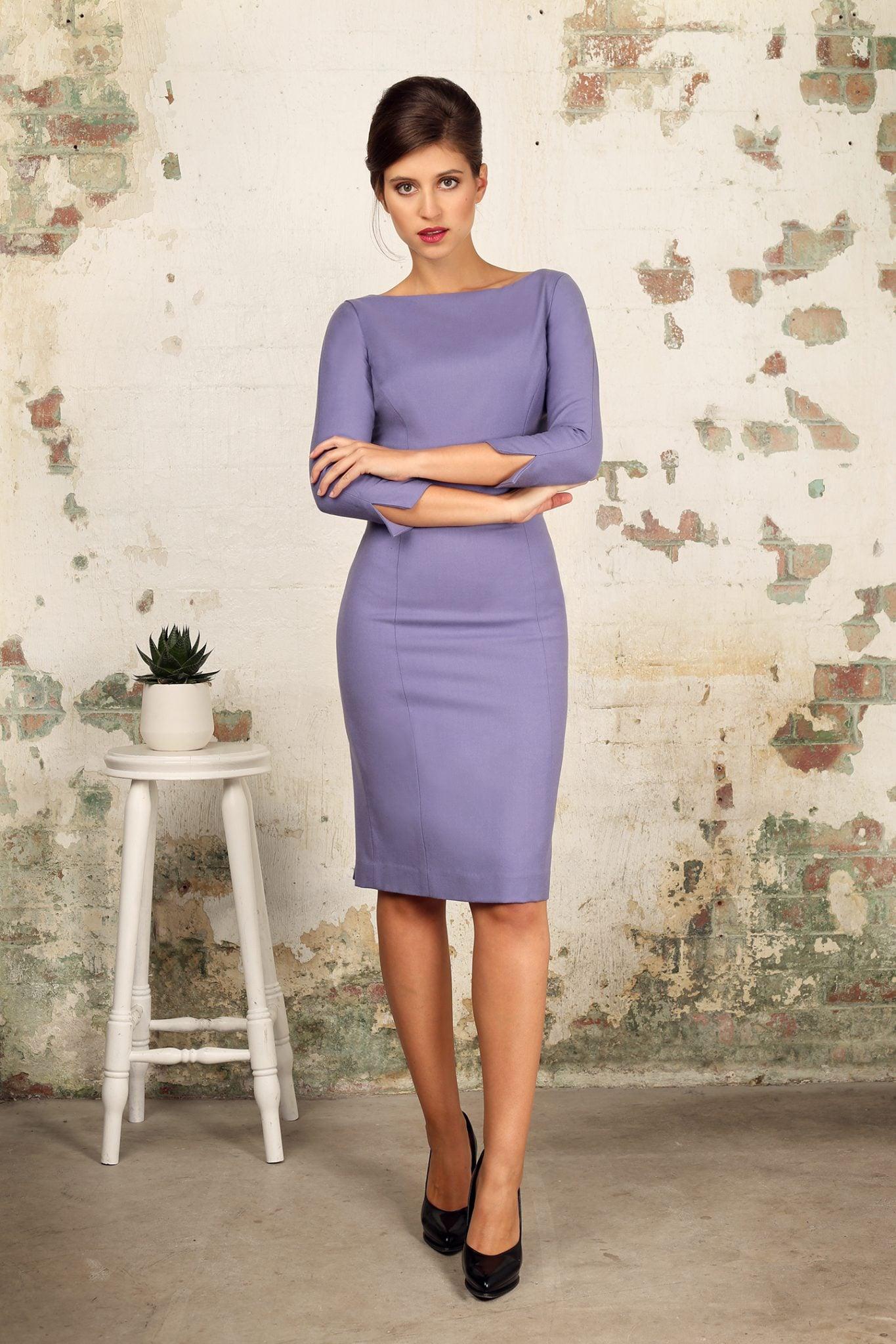 Violet Shift Dress1