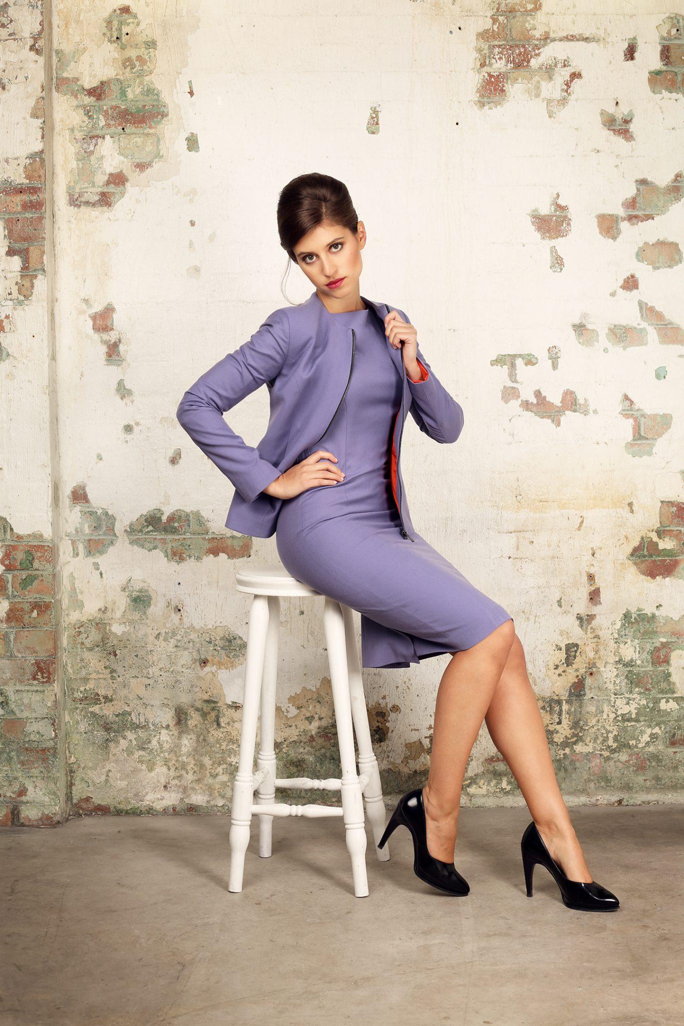 Violet Shift Dress2