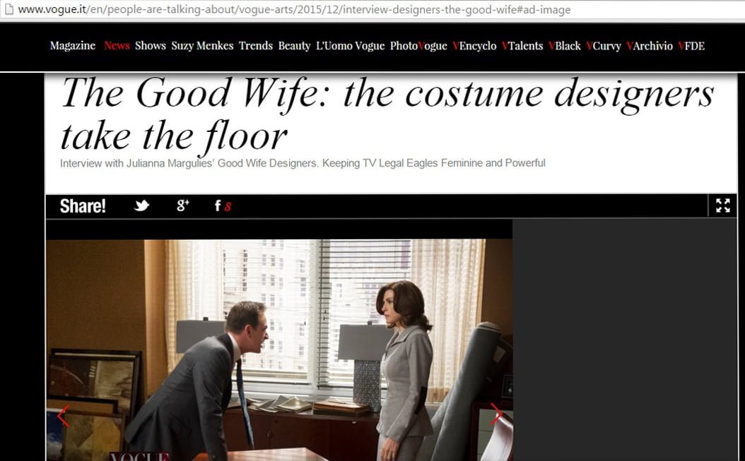 The Good Wife on Vogue Italy