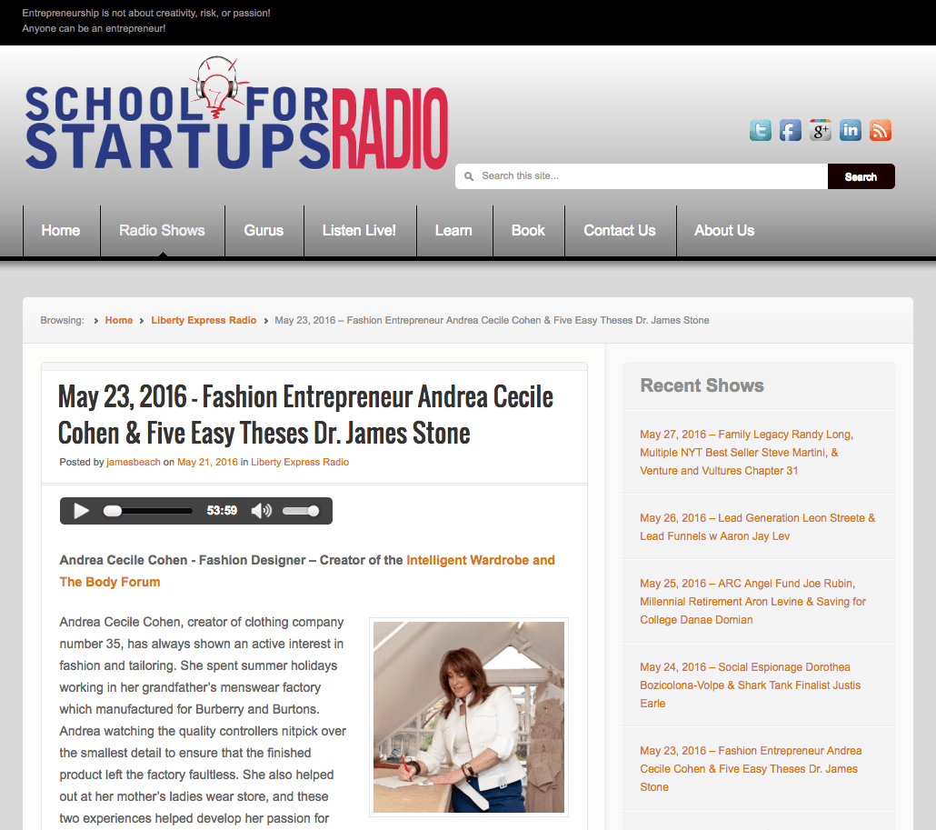 Radio Interview with Andrea Cecile Cohen