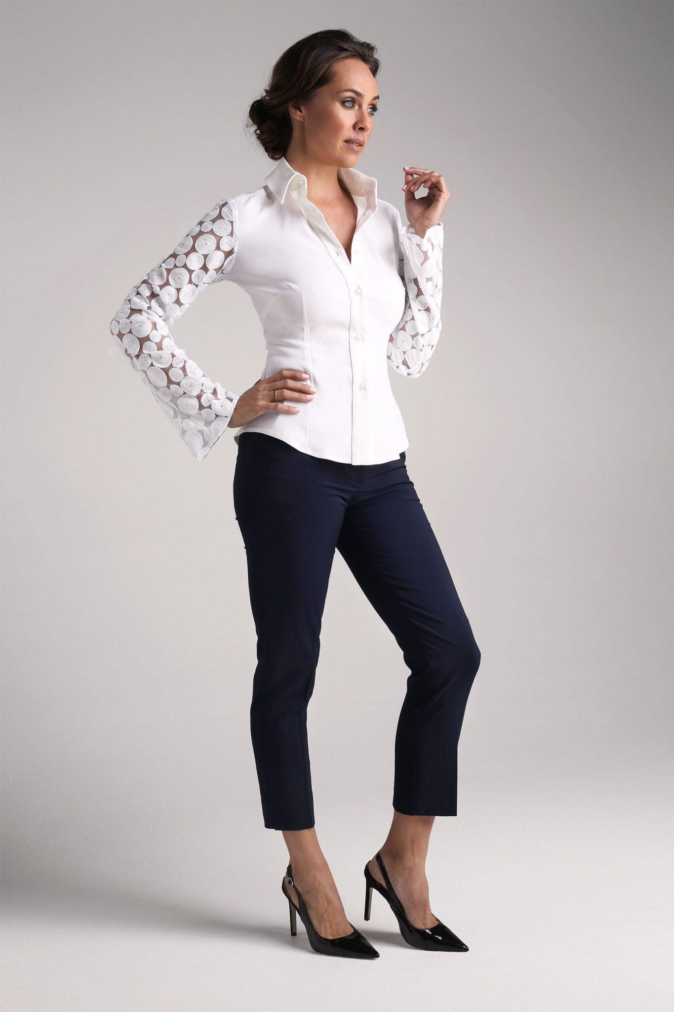 Godet Lace Shirt1