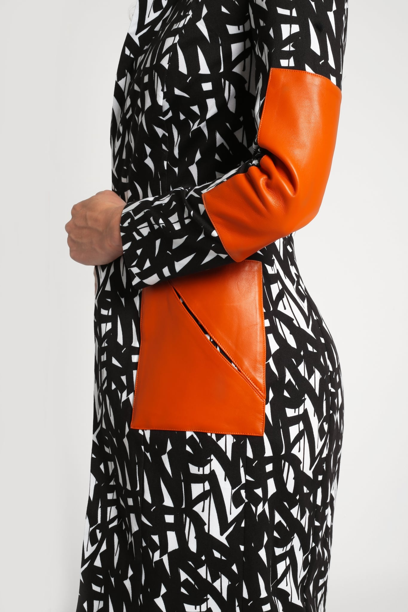Black & White Splice Coat2