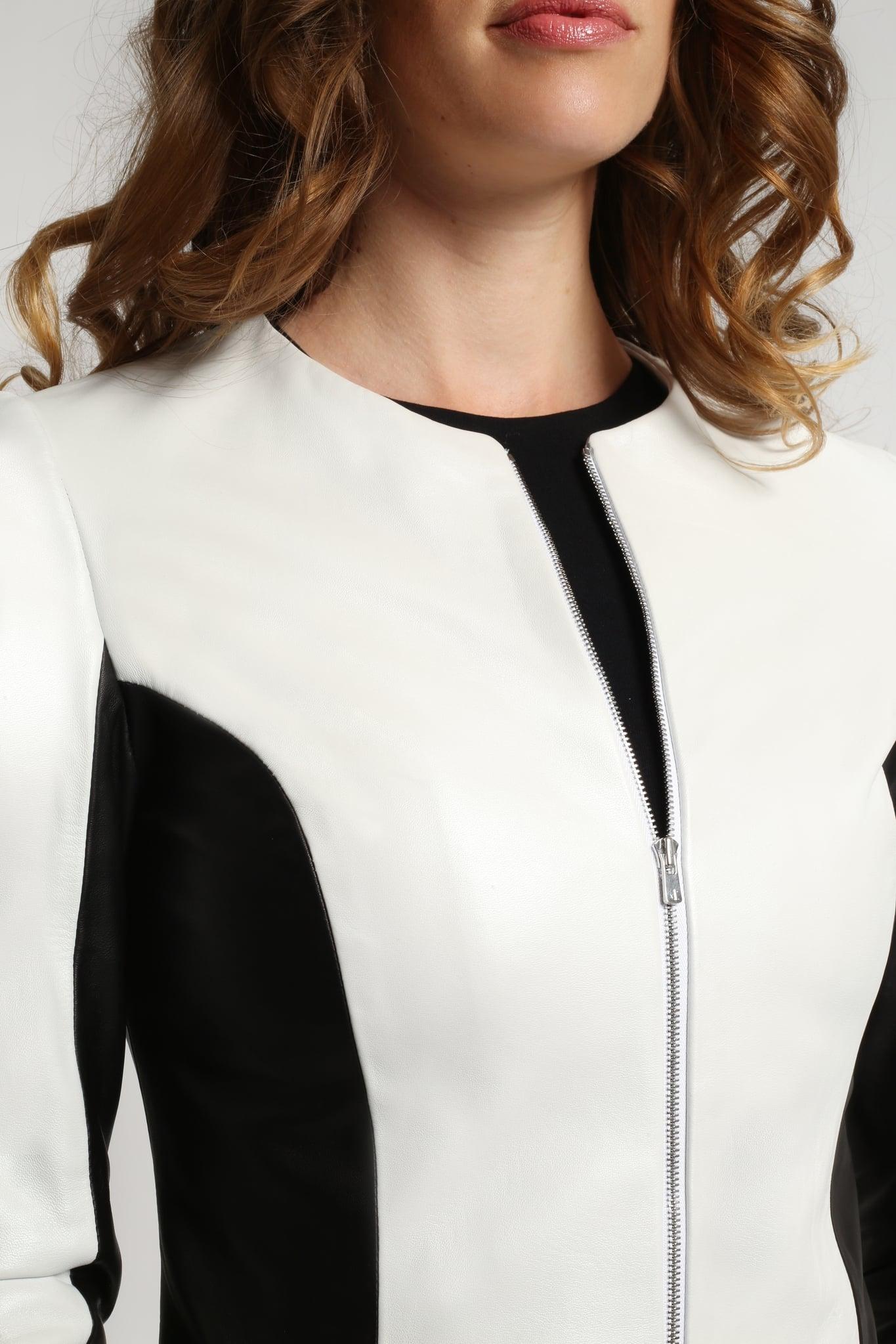 Black & White Leather Jacket2