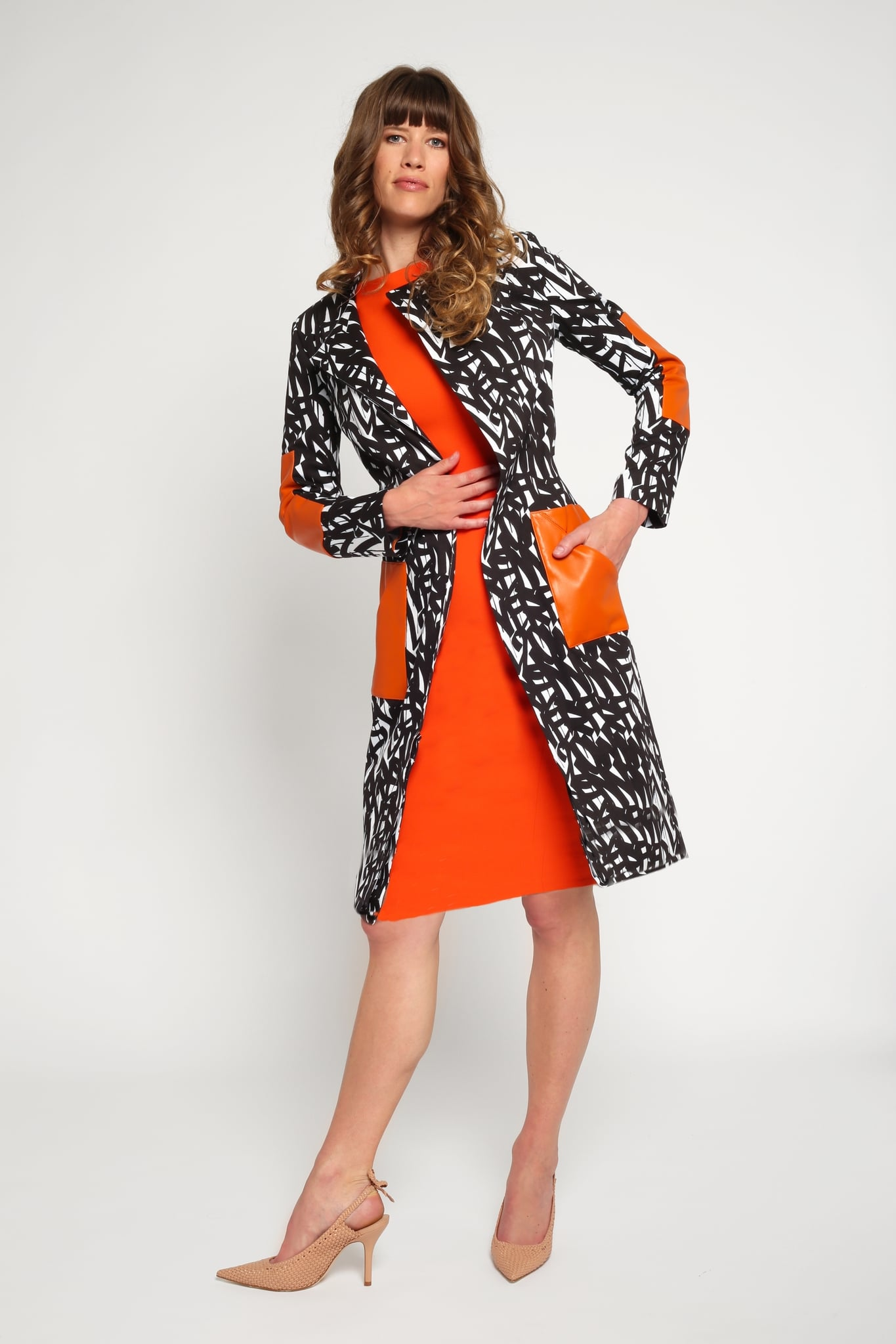 Black & White Splice Coat1
