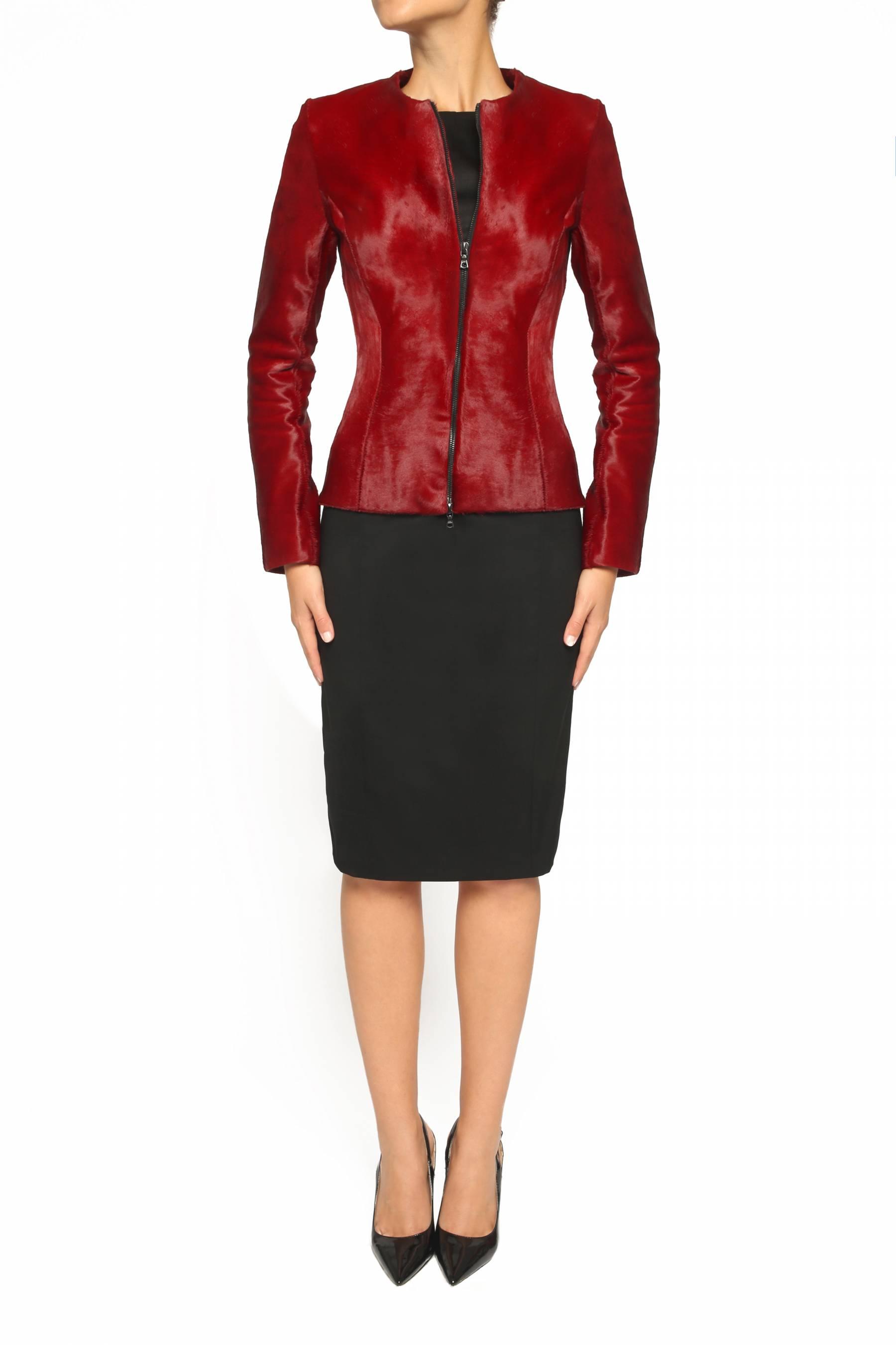 Red Calf Skin Jacket