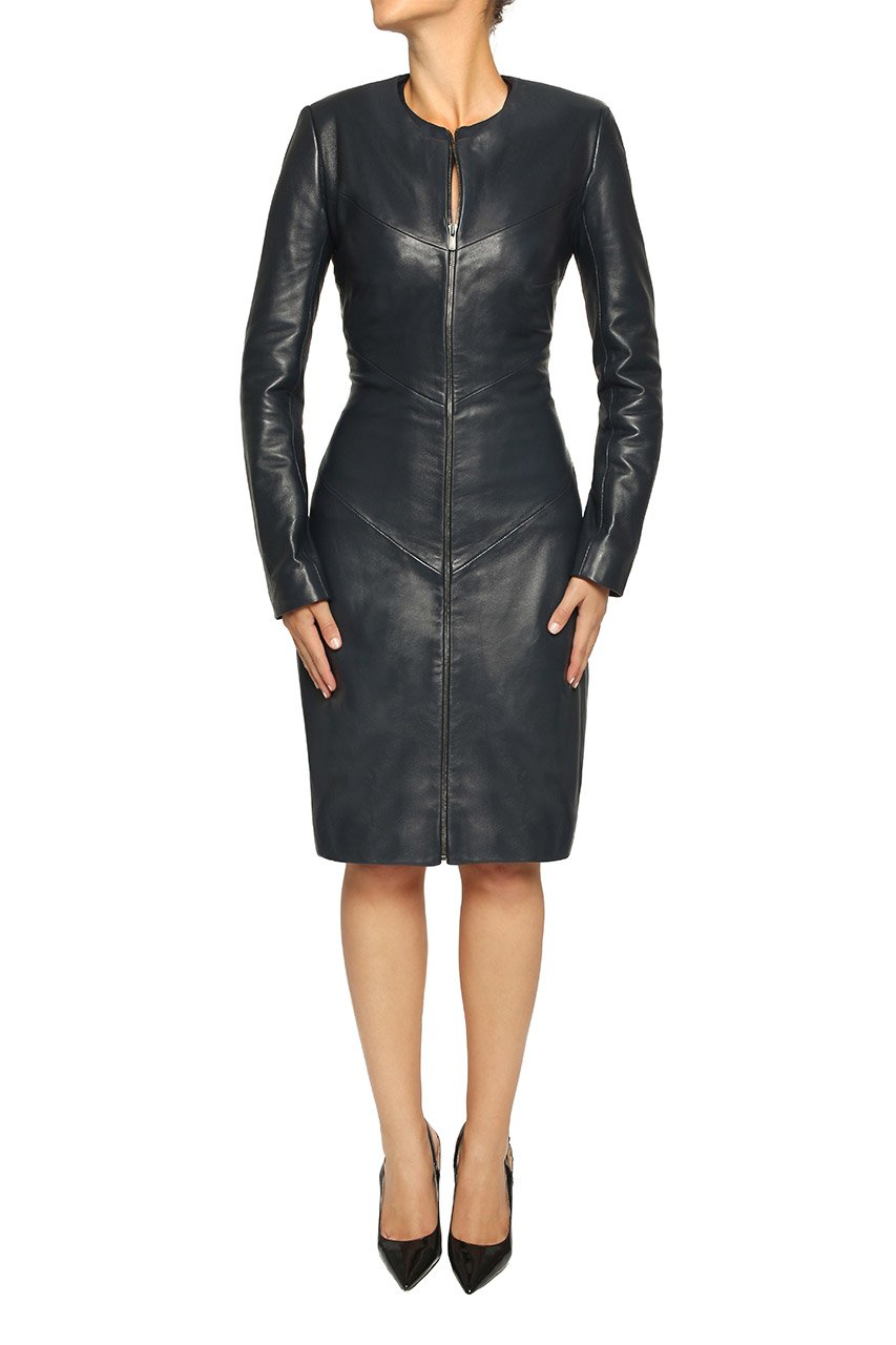 Ladies Leather Coat.
