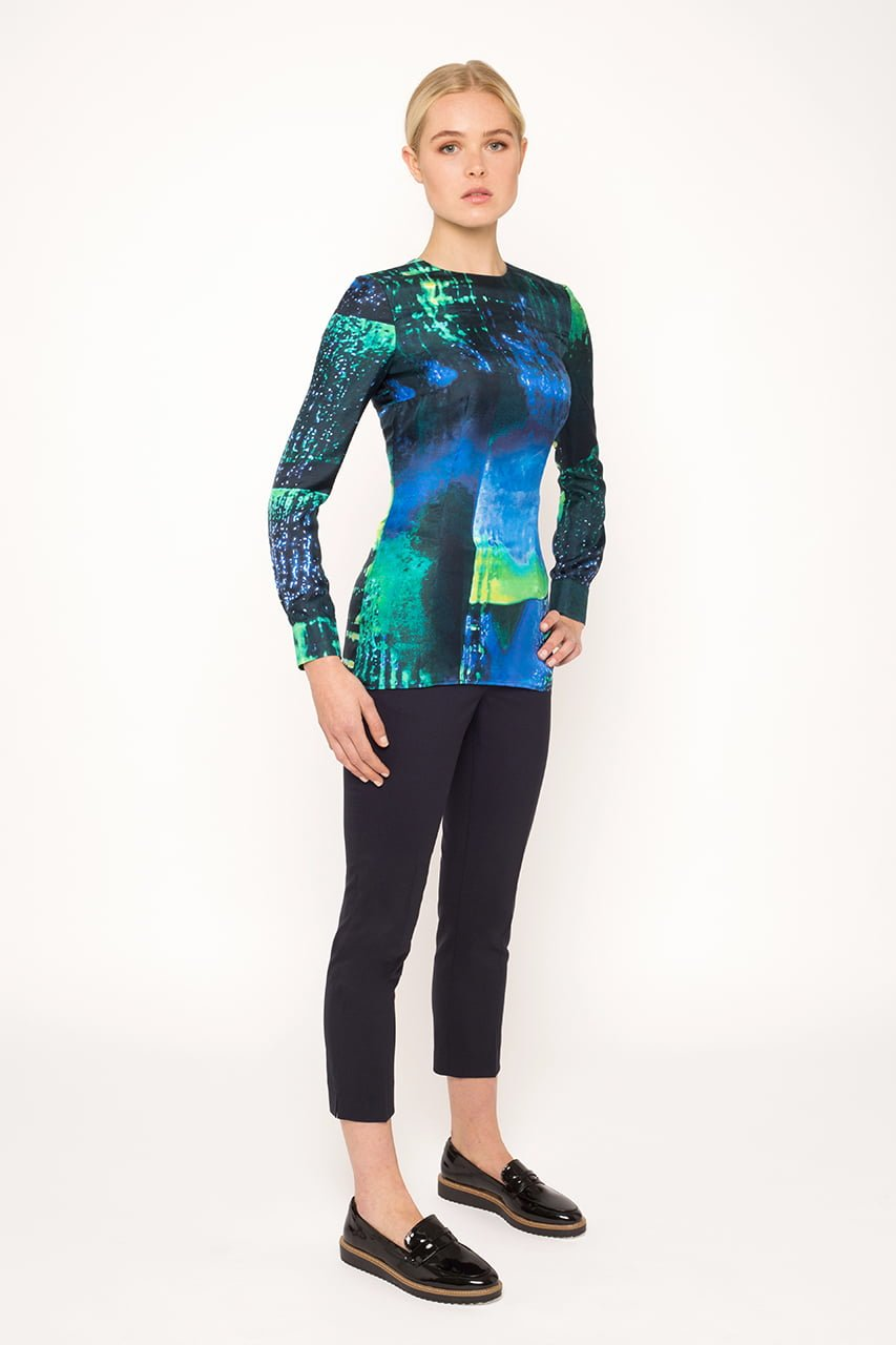 Teal abstract Top1