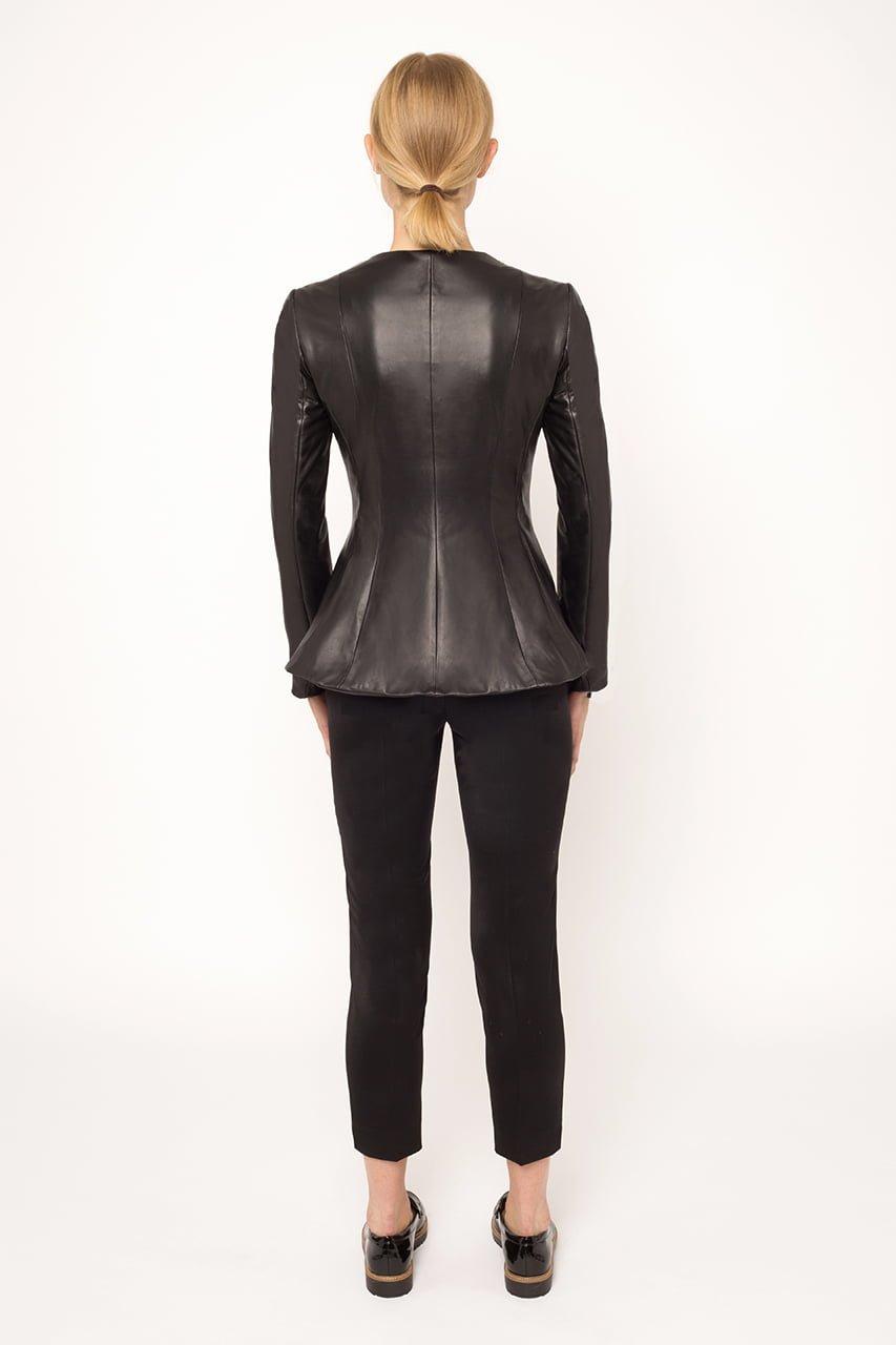 Leather Peplum Jacket2