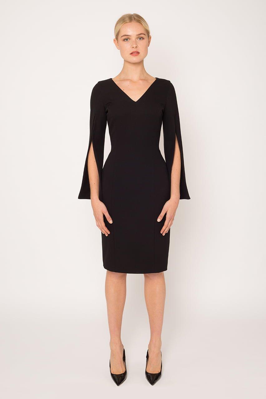 V neck Evening Dress