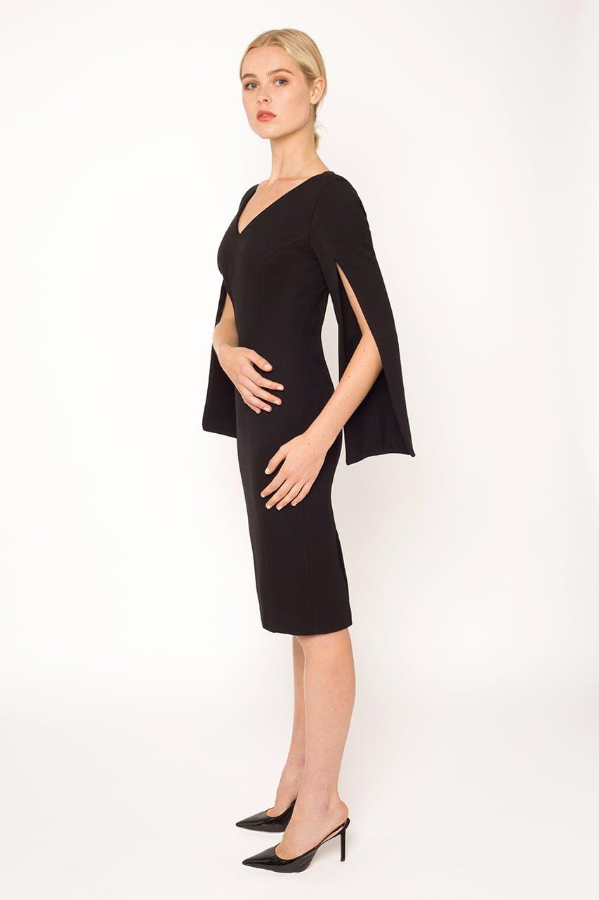 V neck Evening Dress1