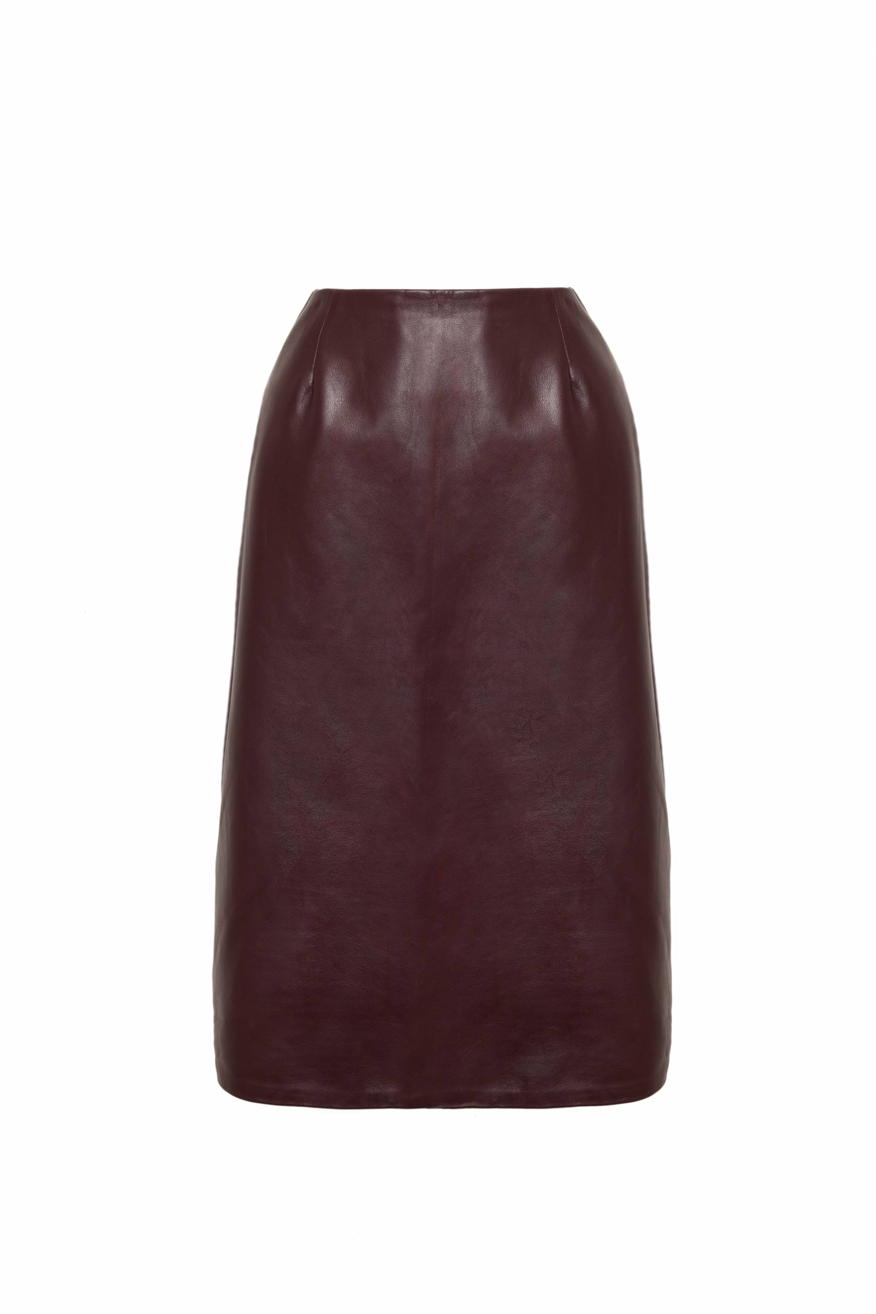 A Line Leather Skirt1