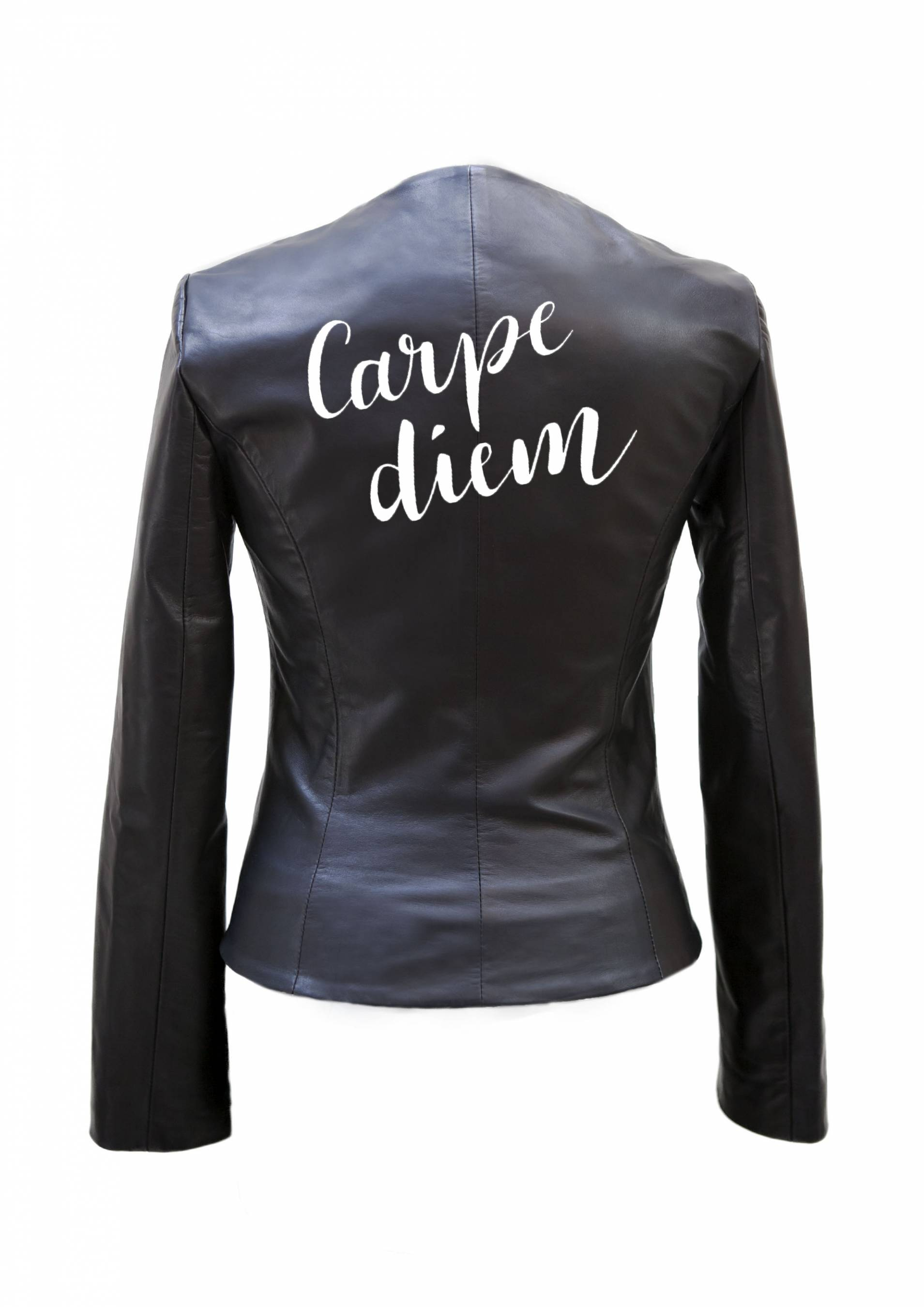Carpe Diem Painted Leather Jacket