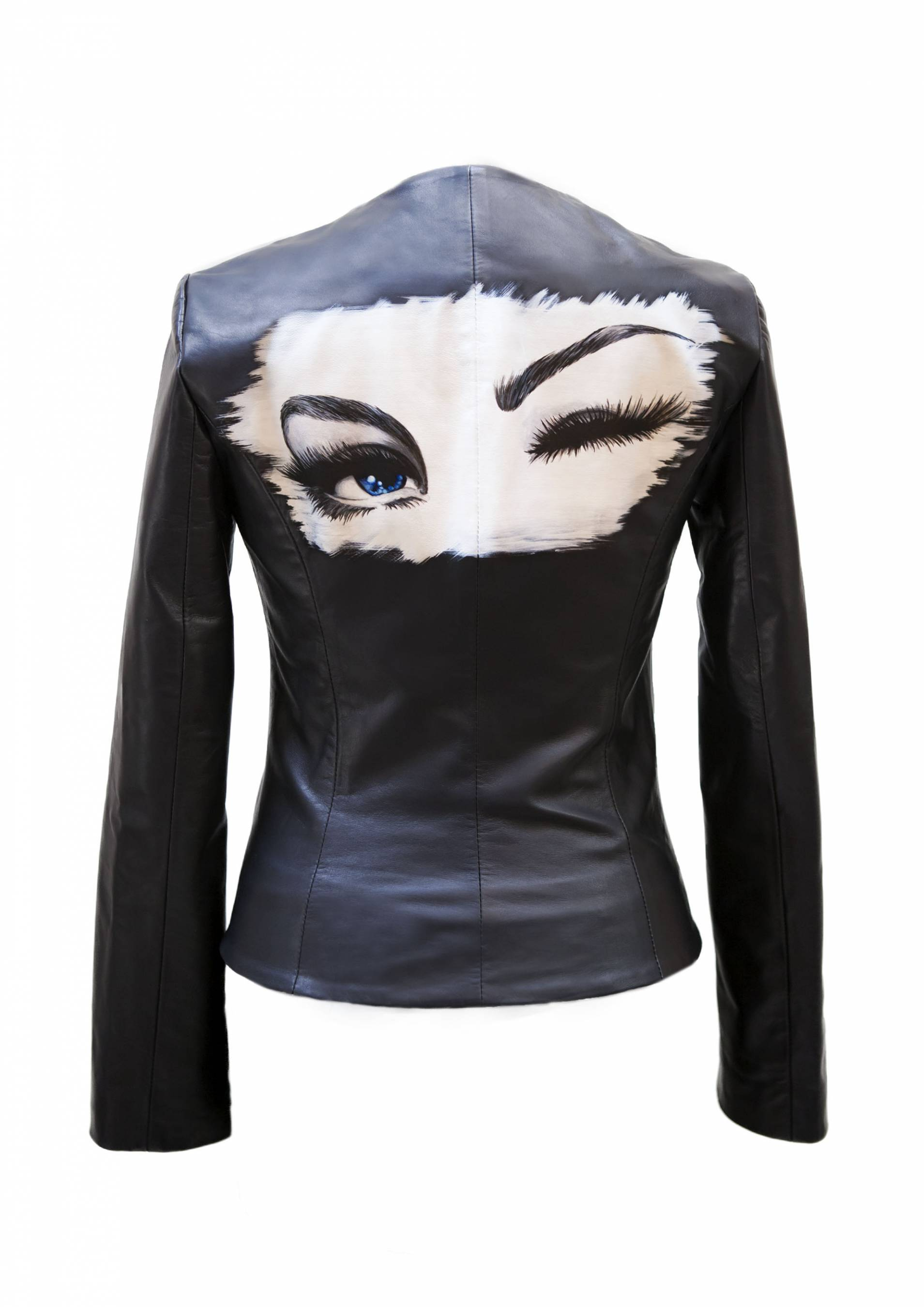 The Wink Painted Leather Jacket
