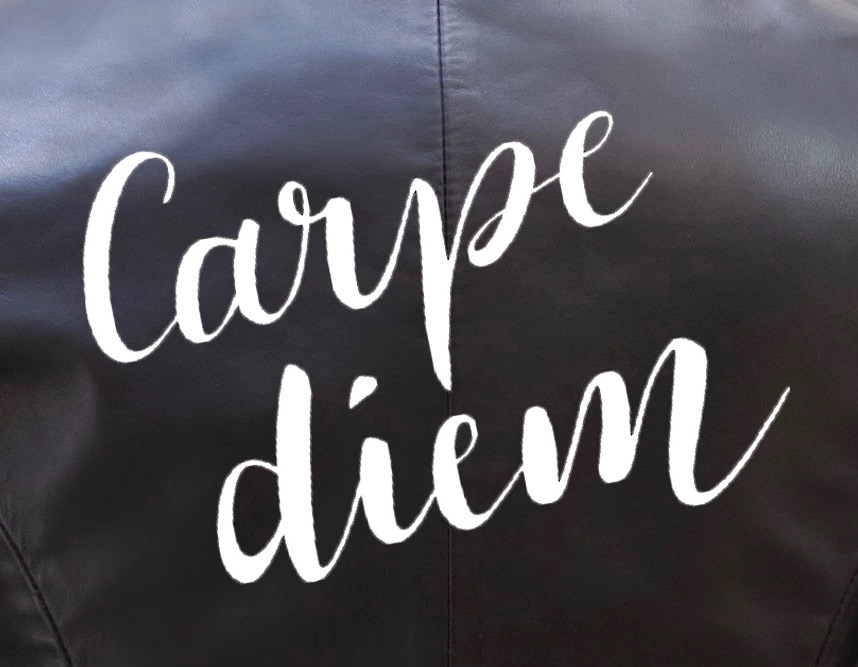 Carpe Diem Painted Leather Jacket2