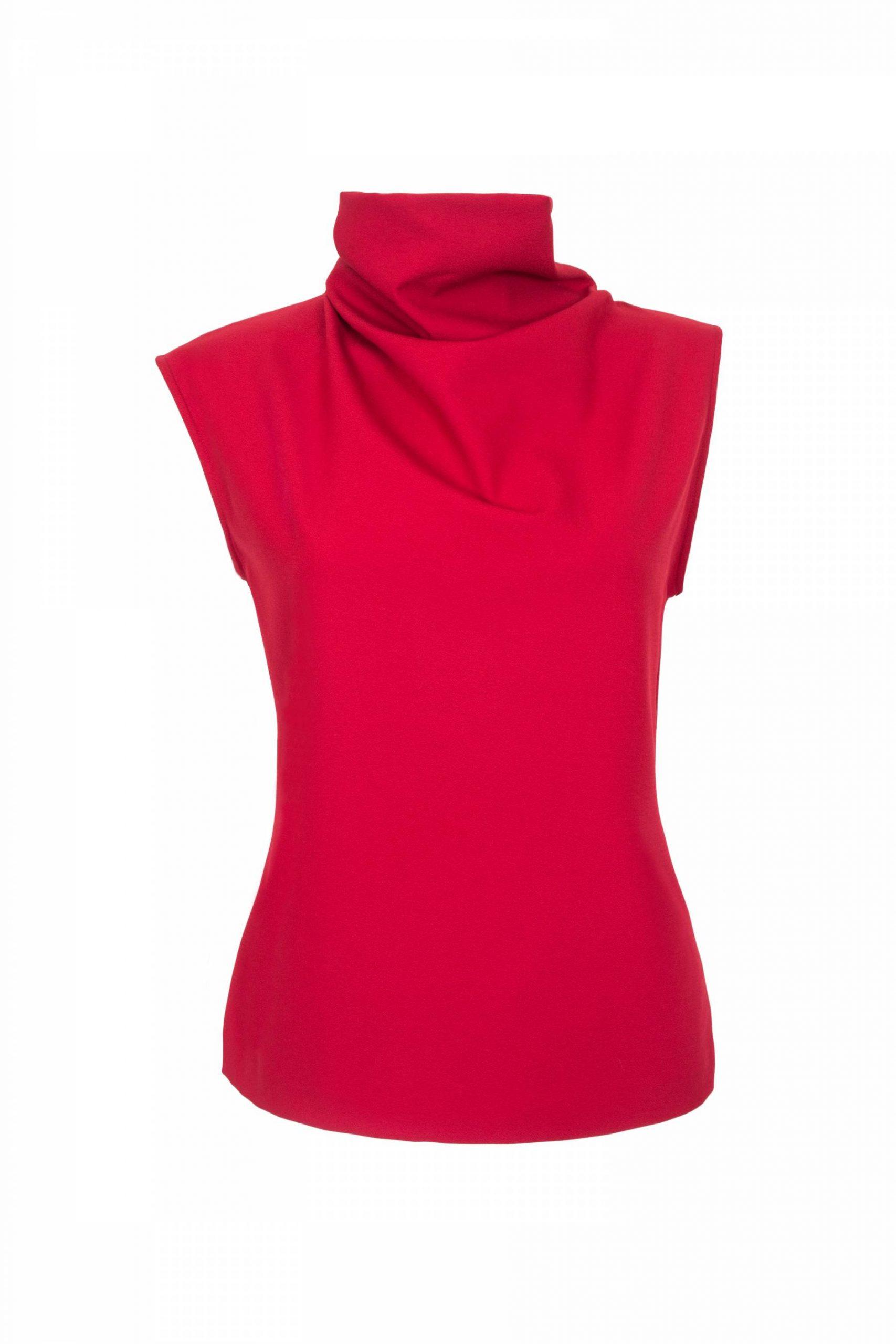 Asymmetric high neck top2