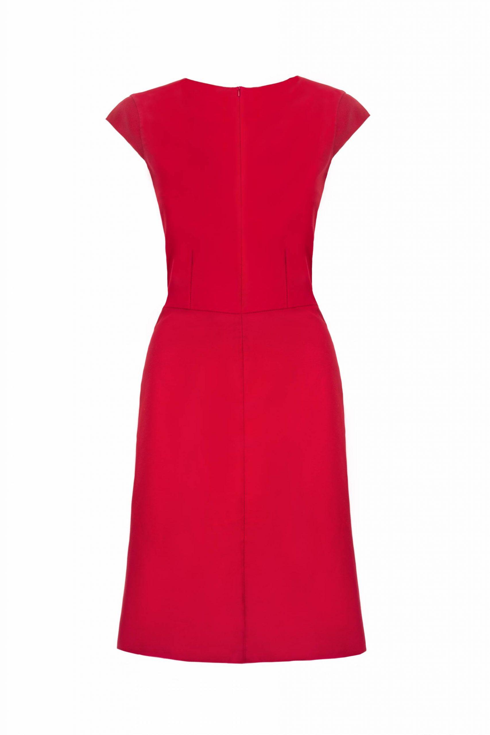 V neck A line dress2