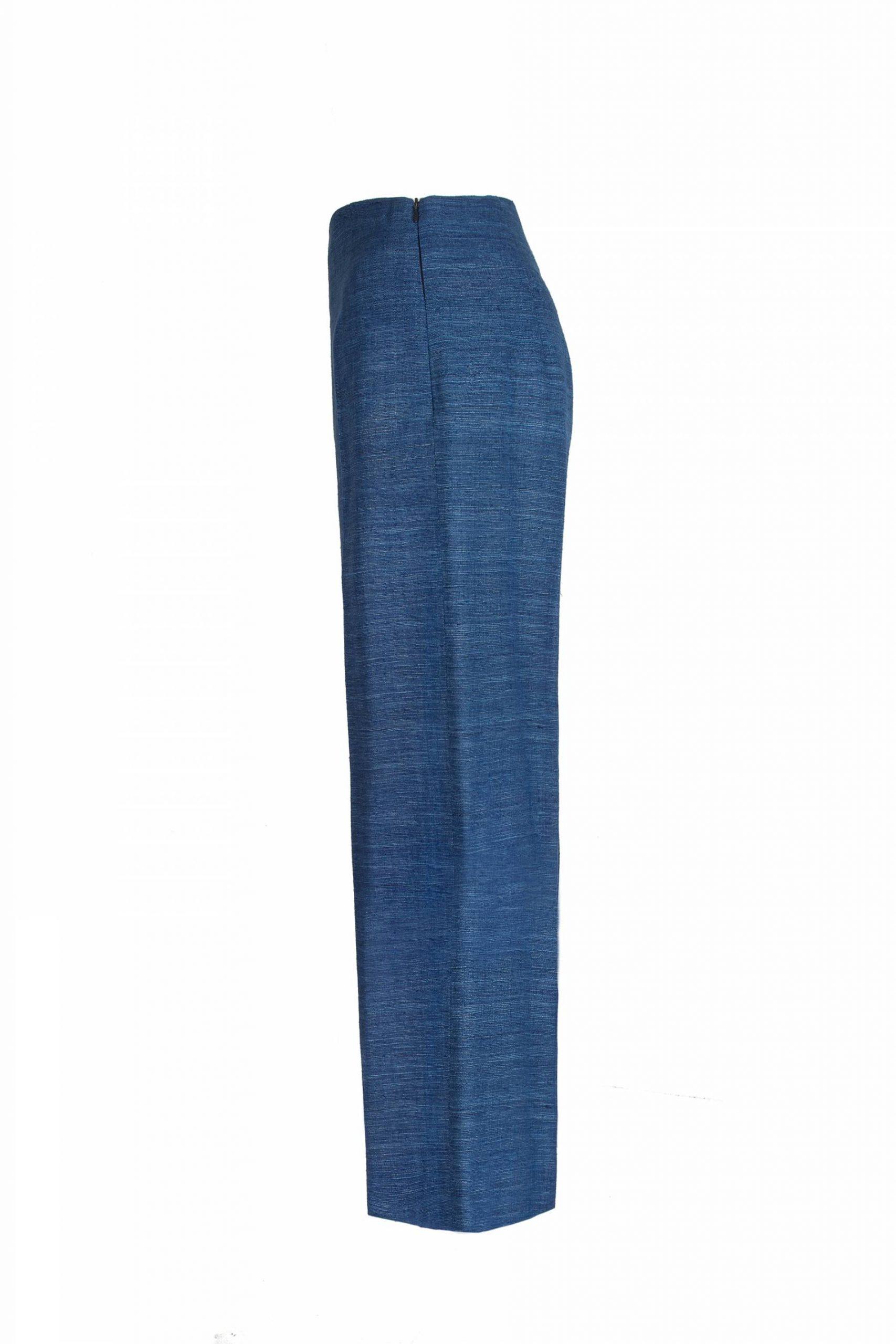 Wide leg silk trousers1