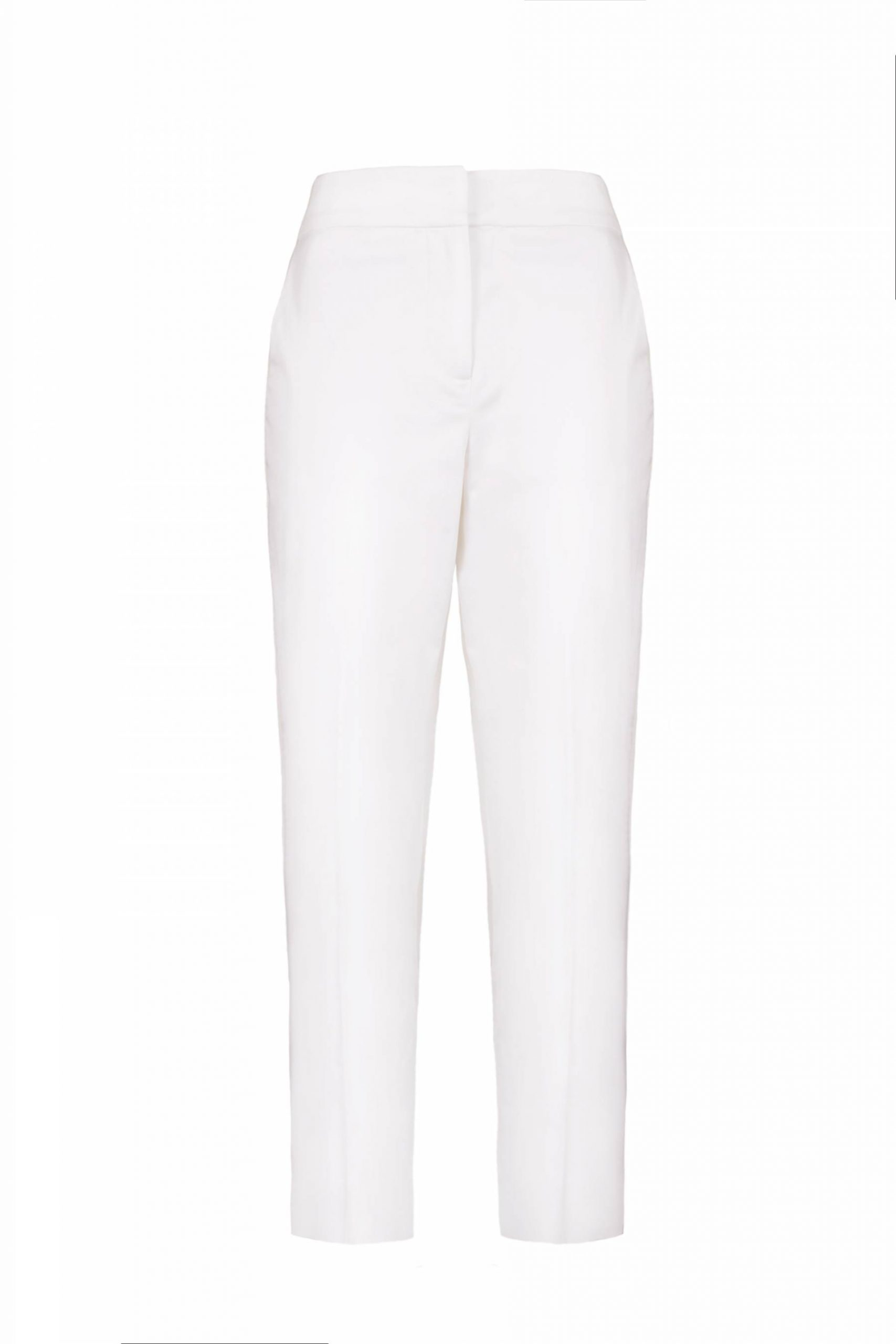 White cotton summer trousers