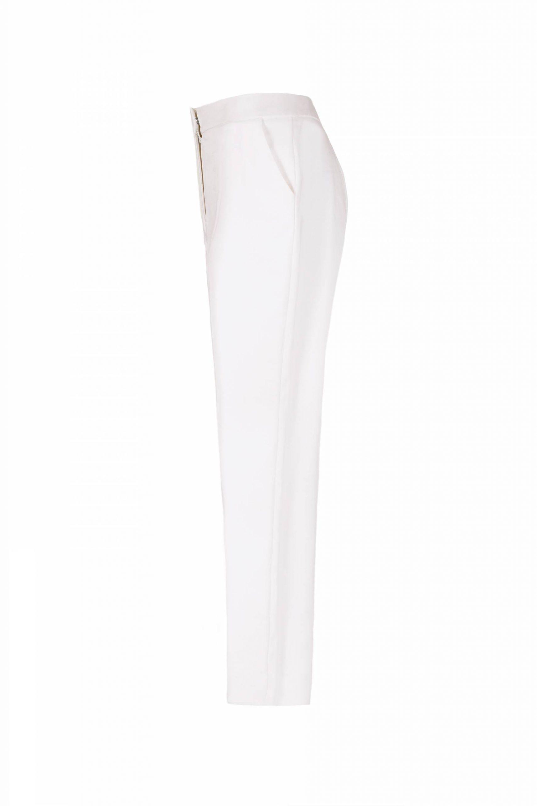 White cotton summer trousers1