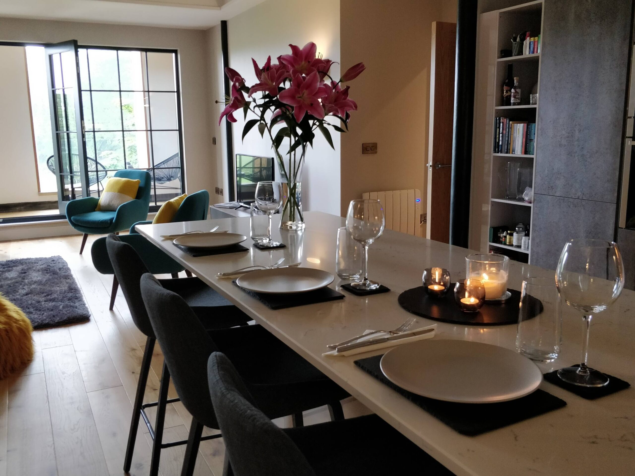 The kitchen and breakfast bar in Spindle Lilly, North Yorkshire Testimonial